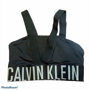 CALVIN KLEIN BLACK BASIC ATHLETIC SPORTS BRA SZ S